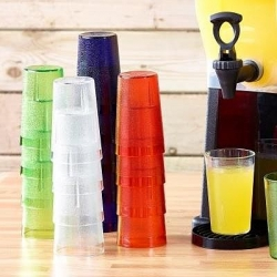 10oz polycarbonate tumblers red blue clear yellow