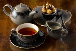 STUDIO PRINTS BEVERAGE CHARCOAL CAKE TEA STONECAST GREY opt 1