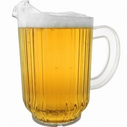 plastic jug with beer