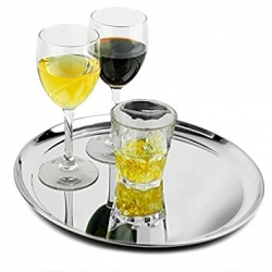 ss bar tray with drinks