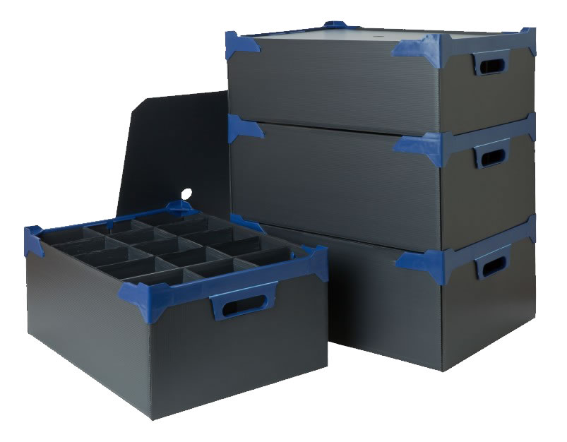bar glass storage boxes stacked