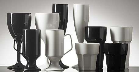 black and white plastic glassware ii 2 opt
