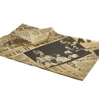 Newspaper print greasproof tray liner