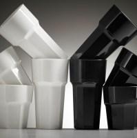 c95b25ddc5d Reusable Black   White Plastic Glasses