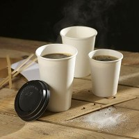 White Hot Drink Paper Cups with coffee