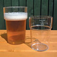 3bf10141f15 Reusable Plastic Beer   Hiball Glasses