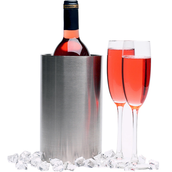 Wine Bottle Cooler Brushed Stainless Steel Stainless
