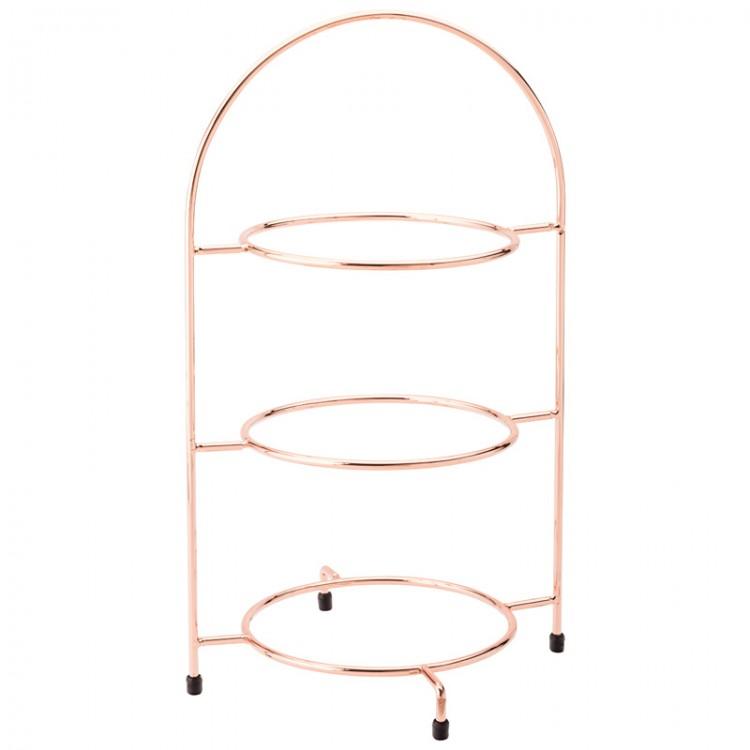 3 Tier Mini Copper Cake Stand  sc 1 st  MK Catering \u0026 Bar Supplies & 3 Tier Copper Cake Stand 42cm / 16.5inch | Wholesale cake stand