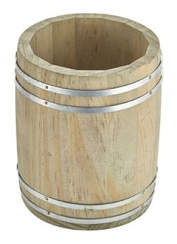Wooden Barrel Table Caddy Barrel Condiment Holder Wooden Table - Condiment holder for table