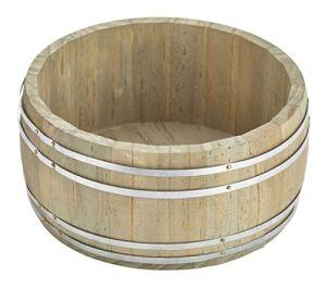 8x16.5cm Miniature Wooden Barrel Condiment Caddy