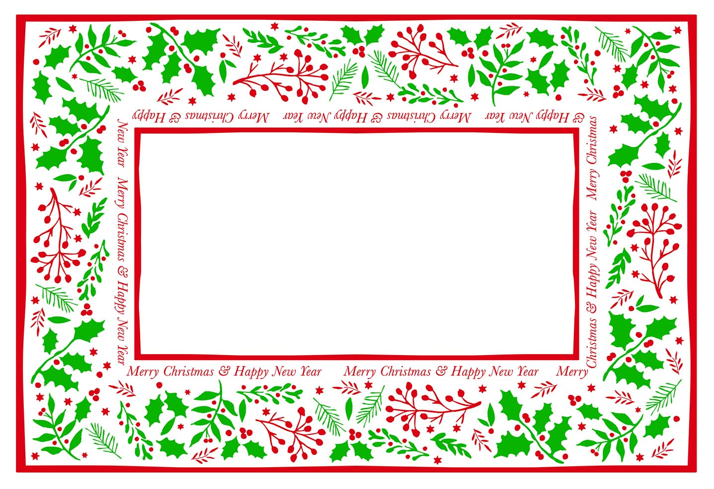 Christmas Paper Placemats Jolly Holly | Xmas Place mats ...