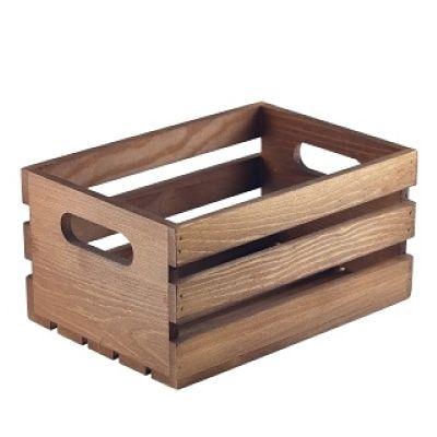 Dark Rustic Wooden Crate Wooden Display Box Wooden