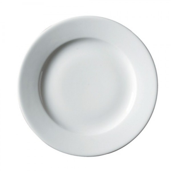 310mm Simply White Wide Rim Winged Plate | Wholesale Winged ...