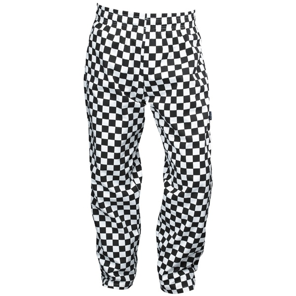 Chefs Trousers Baggies Black Amp White Check Black And