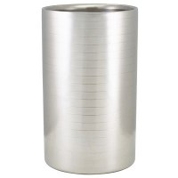 Wine Bottle Cooler Ribbed Stainless Steel