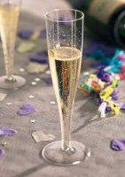 100ml Plastic Champagne Glass with drink
