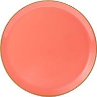 Coral Porcelite Seasons Pizza Plate