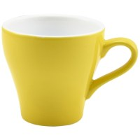 Yellow Porcelain Tulip Shaped Cup