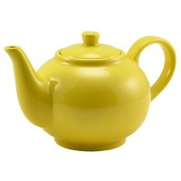 Porcelain YELLOW 2-3 Cup Teapot