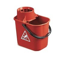 RED Mop Bucket with Wringer 12 Litre