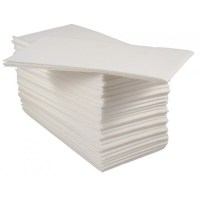 White Ready Folded Linen Style Paper Napkin