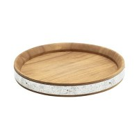 Acacia Wood Zinc Banded Serving Board