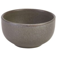 Rustic Stoneware Round Bowl in ANTIGO GREY