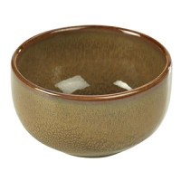 Rustic Stoneware Bowl in BROWN