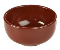 Rustic Stoneware Bowl in RED