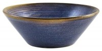 Aqua Blue Terra Conical Bowl