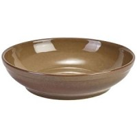 Rustic Stoneware Round Coupe Bowl in BROWN