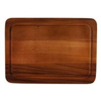 28.5x40.2cm Acacia Wood Reversible Serving Board