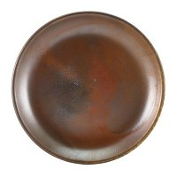 Rustic Copper Terra Porcelain Coupe Plate