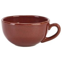 30cl RED Rustic Stoneware Cup