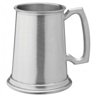 Albany Brushed Pewter Beer Tankard 20oz / PINT / 58cl