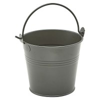 DARK OLIVE Galvanised Steel Serving Bucket