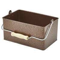 Rectangular Table Caddy in Galvanised Steel with Condiments