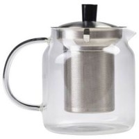 Large Glass Teapot with Stainless Steel Infuser