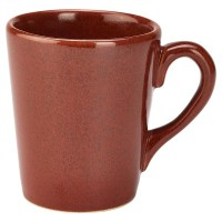 32cl RED Rustic Stoneware Mug