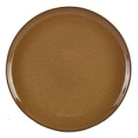 Rustic Stoneware Round Pizza Plate in BROWN