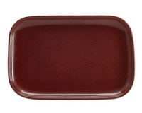 Rustic Stoneware Rectangular Plate in RED