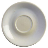WHITE Rustic Stoneware Saucer