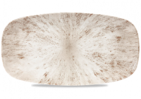 Stone Agate Grey Chef's Oblong Plate