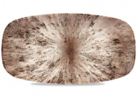 Stone Zircon Brown Chef's Oblong Plate