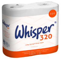 Whisper 320 Sheet Toilet Roll