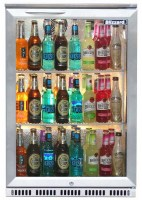 Single Bar Bottle Cooler Stainless Steel Hinged Door