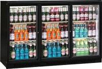 Triple Door Bottle Cooler with hinged or sliding doors