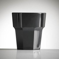 BLACK Reusable Plastic Remedy Rocks Glass
