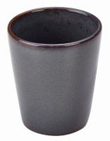 Rustic Stoneware Conical Food - Chip Cup in BLUE