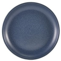 Antigo Denim Blue Terra Porcelain Coupe Plate